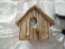 Bird's Eye View Driftwood Birdhouse Spy on the Birds Suction Cups to Window