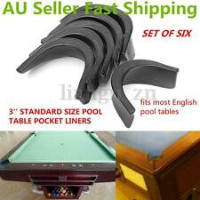 6X Rubber Soft Pool Table Pocket Liners 3'' Protector Billiard 5 Corner & 1 Side