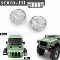 RC Simulated Headlight Lens Lamp Cover For 1/10 AXIAL SCX10 III Jeep RC Truck