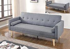 NEW 3 Seater Light grey Scandinavian style Fabric Sofa Bed Modern Home Furniture