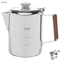 """Coletti """"Bozeman"""" Percolator Coffee Pot  9 CUP Camping Coffee Pot"""
