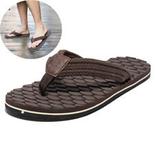 Brown Summer Men Flip Flops Non-slip Beach Big Size 40-48 Sandals Shoes Slippers