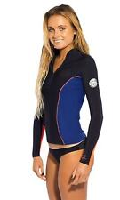 Size 6 Womens Rip Curl G Bomb L/SL 1mm Bikini SPRING Wetsuit Jacket - Navy