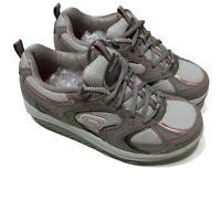 Skechers Shape Ups Sz 8 Women's Walking Shoes Purple Gray White