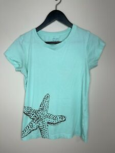 Vineyard Vines Size XS Teal Starfish T-Shirt With Stains See Listing T3
