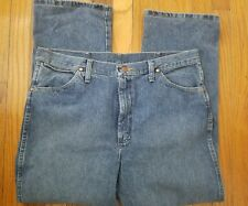 Wrangler 936RST Faded Denim Jeans Tag Size 36x30 Measure 36x28 Cowboy
