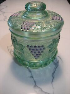 Green Jar Hand Blown Art Glass For Sale Ebay