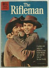 THE RIFLEMAN #6 (Chuck Connors Photo Cover, Toth Art, Western TV) Dell, 1961