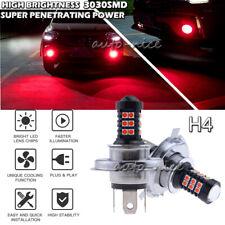 2x 30SMD H4 3030 LED Ultra Red Car Fog Daytime Running Light Bulb Driving Lamp