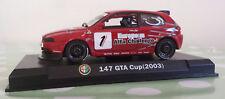 Alfa Romeo 147 coche en rojo GTA Taza 2003 producto en escala 1:43rd Alfa Collection