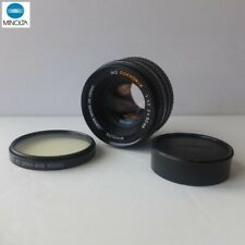 MINOLTA MD Rokkor-X 50mm ƒ/1.7 lens c.1979—first gen. MD with 55mm filter thread