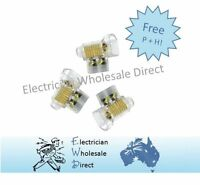 Connectors Earth 30A AMP 240v 2 x 6 mm Cable Double Screw Connectors Pack of 50