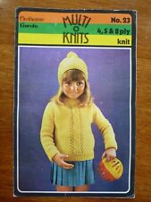 CLECKHEATON LINCOLN MULTI KNITTING PATTERN LEAFLET 23 JUMPER HAT - 4, 5 & 8 PLY