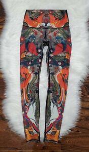 Yoga Democracy Peacock Birds Recycled Eco Yoga Pants Women's size XS