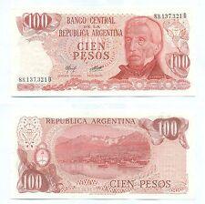 ARGENTINA NOTE 100 PESOS (1978) CAMPS-DIZ B# 2409a SERIAL D P 302b UNC