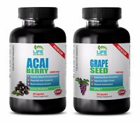 antiaging supplement - ACAI BERRY – GRAPE SEED EXTRACT COMBO 2B - acai capsules