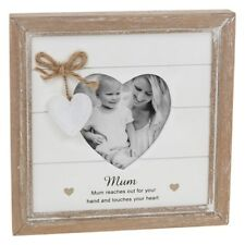 Provence Message Heart Frame Hanging Shabby Wooden Photo Distressed Sentiment