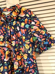 """Very Cute GORMAN """"Light Show"""" Shirt Dress * Size 14"""
