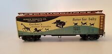 Post War Train Refrigerator Car Gerber Product Co. #1001 - Strained Vegetables