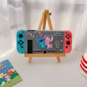 Cute Cartoon Love Stitch Nintendo Switch Case clear Shell Protective back cover