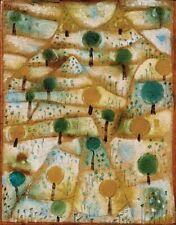 'Small Rhythmic Landscape quadro - Stampa d''arte su tela telaio in legno'
