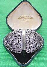 Old Art Nouveau White Metal Indian Silver Midwife Nurse Buckle Valentine Gift B