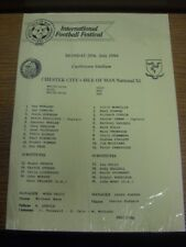 25/07/1994 Isle Of Man Festival: Chester City v Isle Of Man National XI [At Cast