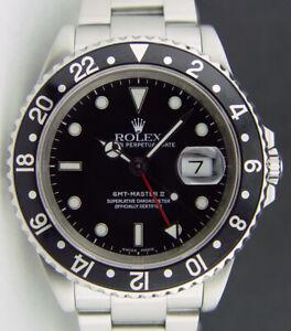 ROLEX - Mens Stainless Steel GMT Master II Black SEL 16710 - SANT BLANC
