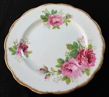 "Vintage ROYAL ALBERT England Bone China AMERICAN BEAUTY Pattern 8 1/4"" Plate"