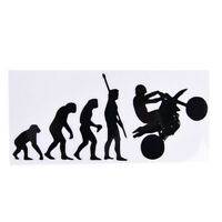 Human Evolution Motorcycle Car Stickers Personalized Vinyl Reflective Decals WRD
