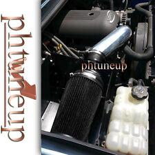 BLACK for 2008 2009 HUMMER H2 6.2 6.2L ENGINE HEATSHIELD COLD AIR INTAKE KIT