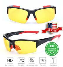 TAC HD Night Vision Glasses Men Women Driving Aviator Anti Glare Safety Glasses