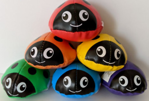 Ladybug Beanbags (6) Learning Primary Colors Sensory Bean Bags Lady Bugs NWT