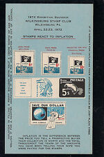 1972 Wilkinsburg Souvenir Sheet, MNH, Full Original Gum, Immaculate! Funny!