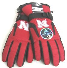 Nebraska Cornhuskers Multi-Color Winter Ski Type Gloves By adidas, Size M