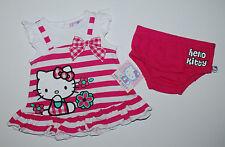 USA~Kleid~HELLO KITTY~50-56~Sommerkleid~Katze~Babykleid~gestreift~Kleidchen~pink