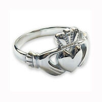 NEW 925 Sterling Silver Claddagh Ring Irish Bespoke Made Men's Women's NOT CAST