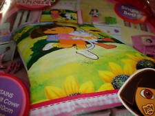 DORA & BOOTS SUNFLOWER SINGLE QUILT/DOONA COVER SET NEW