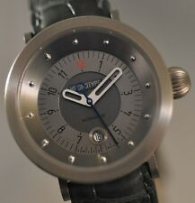 Brand New Ladies Kronotype Automatic Titanium And Leather Swiss Made Watch