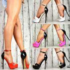 FLUO vernis chaussures femme escarpins talons hauts sexy Sandalettes fête rose