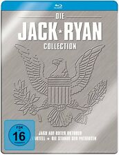 JACK RYAN COLLECTION (Sean Connery, Harrison Ford) 3 Blu-ray Discs, Steelbook
