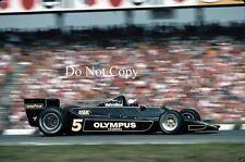 Mario Andretti JPS Lotus 79 German Grand Prix 1978 Photograph 1