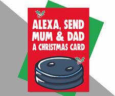 Christmas Card Alexa Mum Dad Parents Family XM187