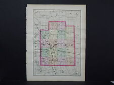 Michigan Map 1873 Double Sided, Counties of Lapeer or Genesee J19#75