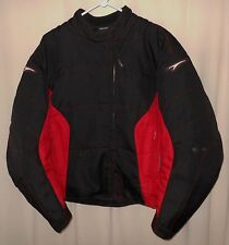 TEKNIC NYLON MOTORCYCLE JACKET RED & BLACK HYDRO GUARD LADY'S SIZE 12