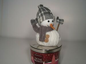 Bath And Body Works Gray Snowman Candle Magnet(Candle Not Included)