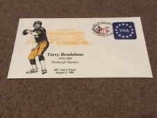 COMMEMORATIVE ENVELOPE- PITTSBURGH STEELERS TERRY BRADSHAW 1ST DAY ISSUE HOF1989