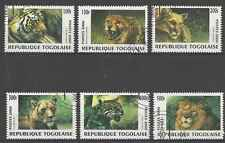 Timbres Animaux Félins Togo o année 2000 lot 25244