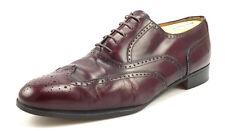 Salvatore Ferragamo Men's Sondrio Leather Wingtip Shoes 9.5 EE Oxfords Burgundy