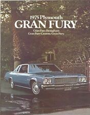 1975 Plymouth Gran Fury Brochure Brougham/Custom/G Fury